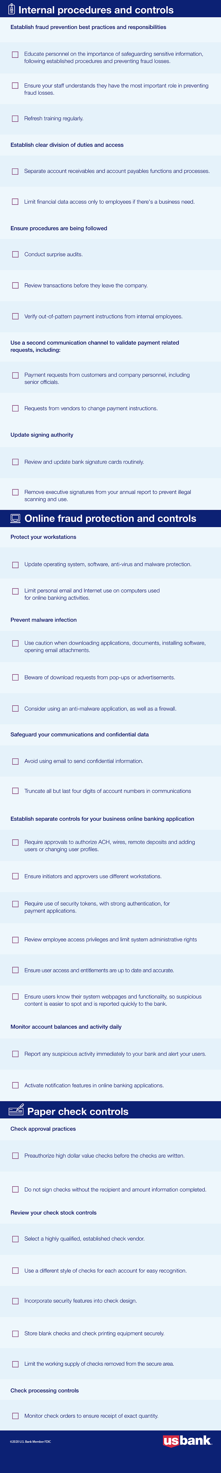 Fraud prevention checklist