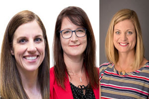 Three women pictured - 2021 Most Influential Women in Payments