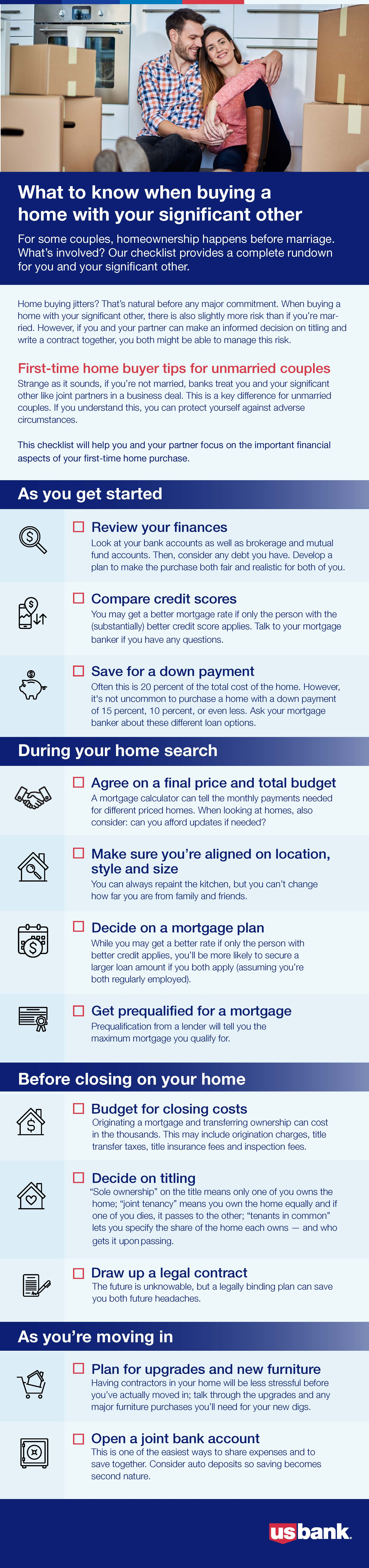 What to know when buying a house with your significant other - infographic