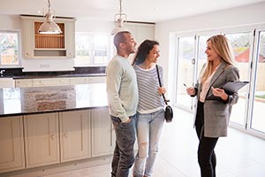 couple touring home with agent